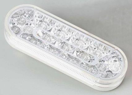 "63014     RED/CLEAR OVAL 6"" 17 LED LIGHT STT"