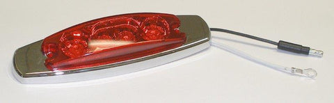 63017  -  Red/Red Clearance Side Marker 4 LED Light
