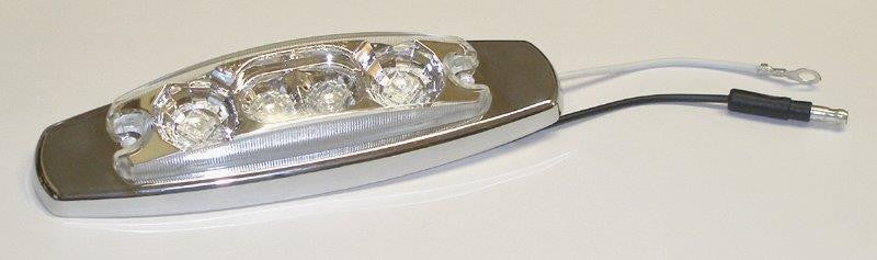 63018  -  Red/Clear Clearance/Side Marker 4 LED Light