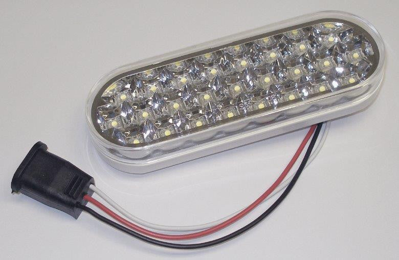 "63022  -  6"" Oval Clear Back-up/Work 25 LED Light"