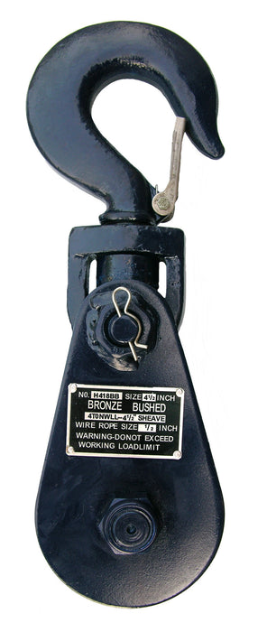 "6I-4T4  -  4 Ton 4.5"" Sheave Snatch Block"