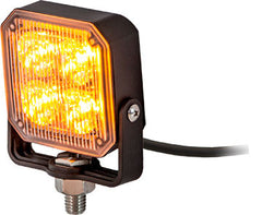 8891800  -  3X3 Amber Pedestal LED Strobe Light w/ 55 Amp 19 Flash Patterns