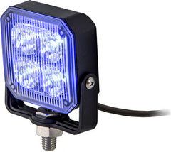 8891804  -  3X3 Blue Pedestal LED Strobe Light w/ 55 AMPS 19 Flash Patterns