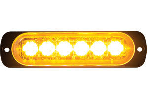 8891900  -  Clear/Amber Low Profile Horizontal Strobe 6 LED Light
