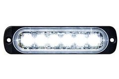 8891901  -  Clear Low Profile Horizontal Strobe 6 LED Light