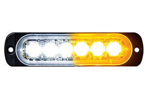 8891902  -  3Clear/3Amber Low Profile Horizontal Strobe Lights