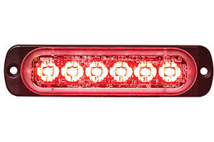 8891903  -  Red Low Profile Horizontal Strobe 6 LED Light