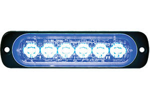 8891904     6 LED BLUE LOW PROFILE HORIZONTAL STROBE LIGHT