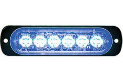 8891904  -  Blue Low Profile horizontal Strobe 6 LED Light