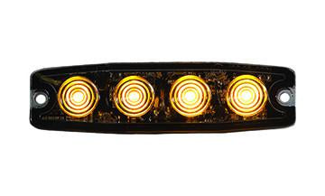 "8892240  -  4.4"" Amber Surface Mount Ultra-Thin Strobe Light With 4 LED"