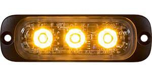 "8892300  -   3.375"" Amber Thin Horizontal Strobe Lights"