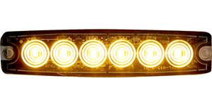 "8892200  -  5.14"" Amber Surface Mount Ultra-Thin LED Strobe Light"