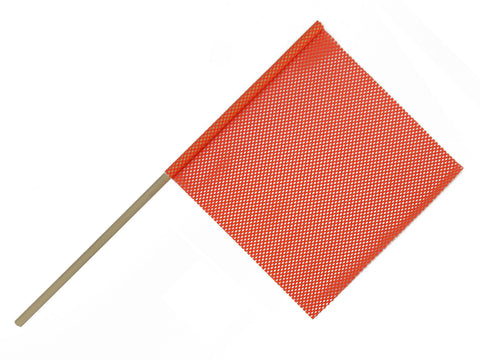 "F10222     3/4"" WOOD DOWEL ORANGE FLAG"