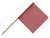 "F10124  -  Red 5/8"" Wood Dowel Flag"