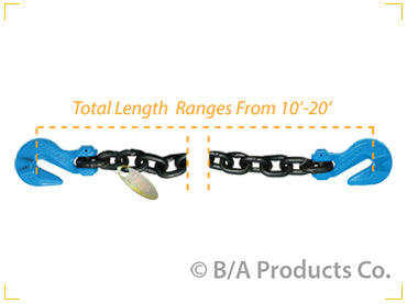 G10-1210SGG   -   Grade 100 Chain w/ Cradle Grab Hooks on Each End
