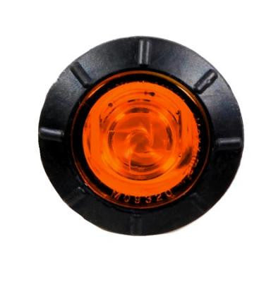 "M09320Y<BR> 3/4"" MINI CLEARANCE 1 AMBER LED BULLET"