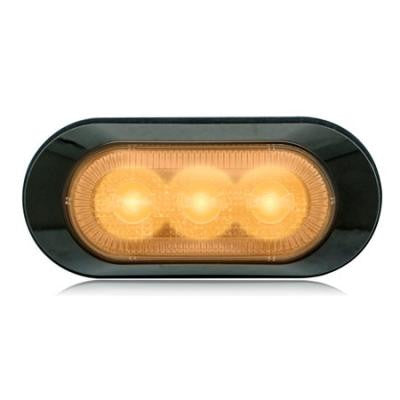 M20383YCL  -  Amber/Clear Ultra Thin Strobe 17 Pattern 3 LED