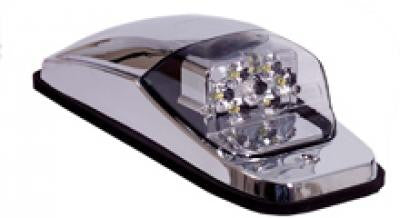 M27001YCL  -  Amber/Clear Chrome Upper Cab Lights 8 LED