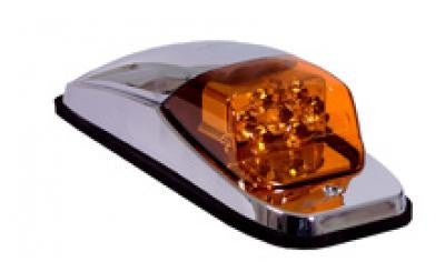 M27011Y<BR> CHROME UPPER 8 LED AMBER CAB LIGHTS