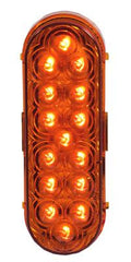 "M63322Y  -  Amber 6"" Oval Marker 9 LED"