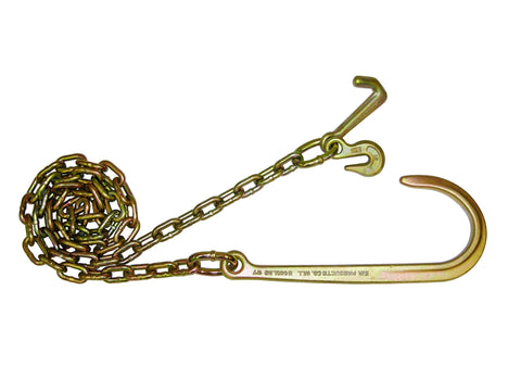 "N711-6J     5/16"" 10' CHAINS 15"" J GRAB & MINI J HOOK PR"
