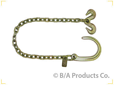 "N711-AC3  -  Ultimate Axle Chain 3ft 5/16"" with 8"" J Hook"