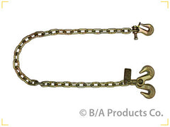 "N711-AC4TL  -  Ultimate Axle Chain 4ft 5/16"" w/ Twist Lock Grab Hook & Grab on Other Side"