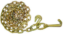 "N711-GJ8  -  8ft 5/16"" Safety Chain w/ Mini J & Grab Hooks - Pair"