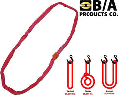 38-RSR-10  -  10ft Red Round Sling