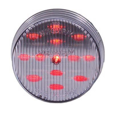"M11300RCL<BR> 2.5"" 13 LED RED/CLEAR CLEARANCE MARKER"