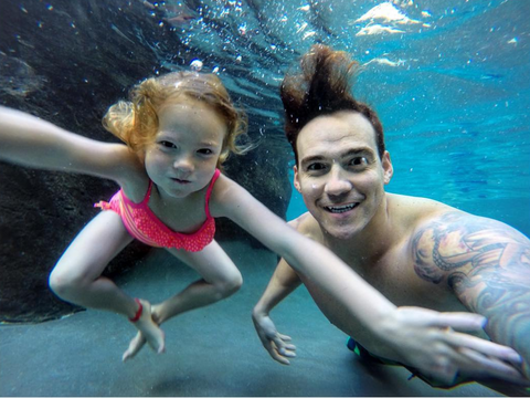 Drae Swimming With Dad