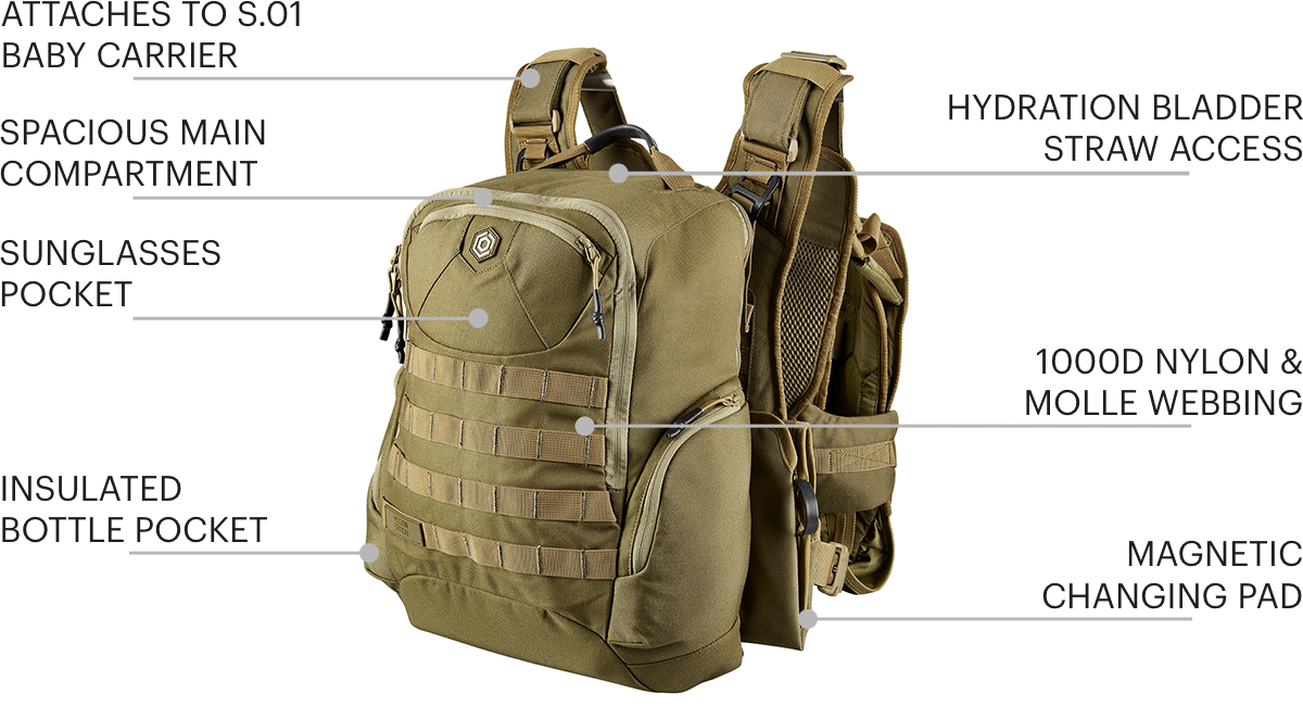 S.01 Baby Carrier Features Callouts - Balance Kit - Mission Critical