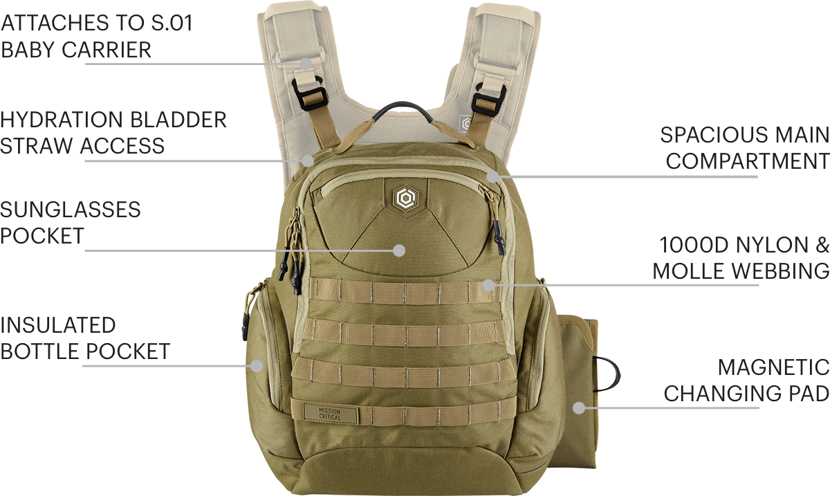 S.01 Action Daypack - Features - Mission Critical