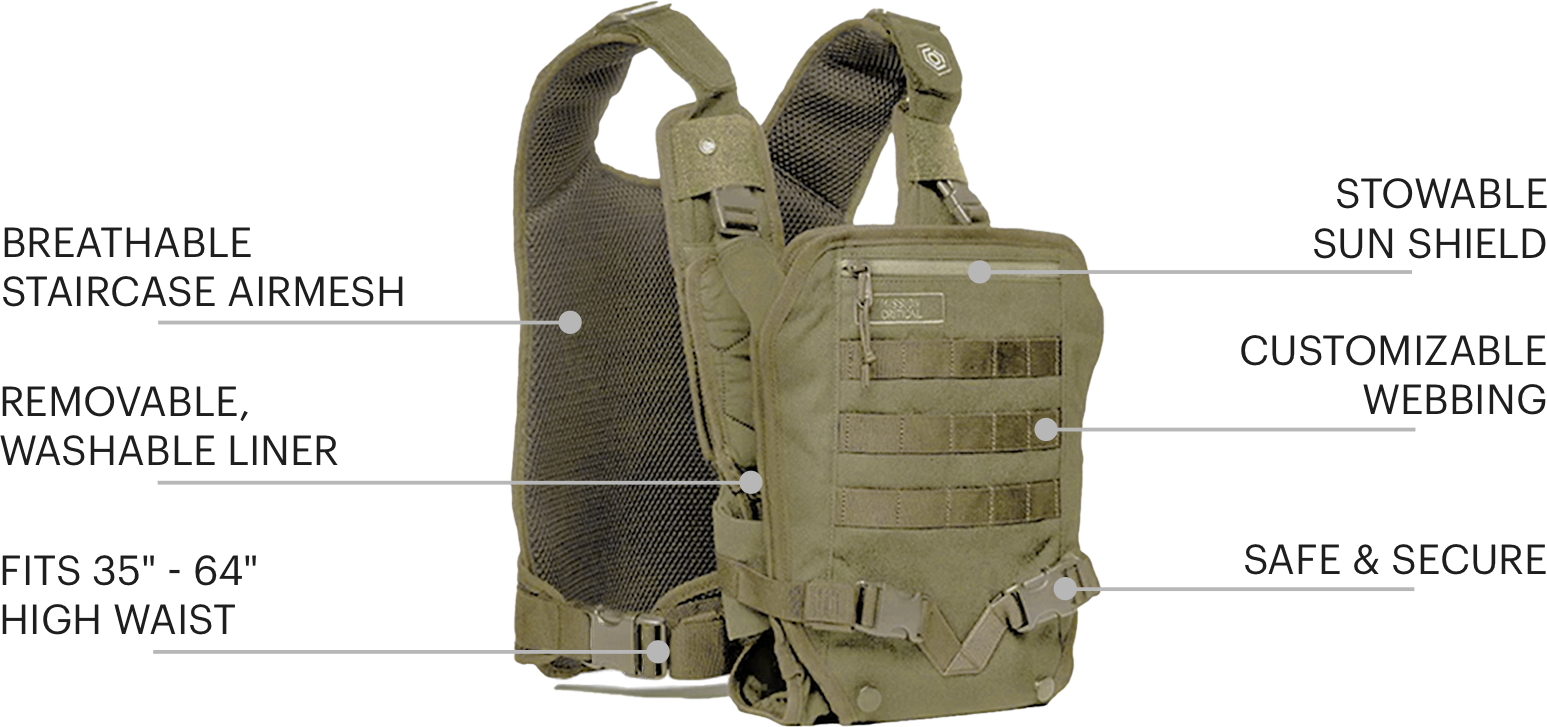 S.01 Baby Carrier Features Callouts- Excursion Kit - Mission Critical