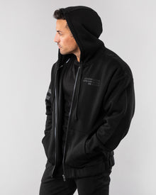 Mission Zip Up Hoodie - Blackout