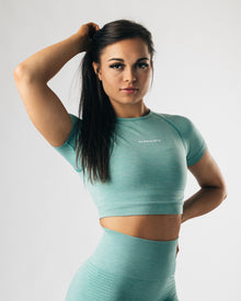 Seamless Crop Top - Jade Green