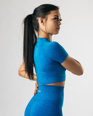 Seamless Crop Top - Palace Blue