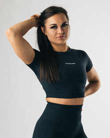 Seamless Crop Top - Sea Pebble