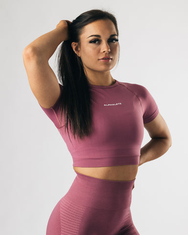 Seamless Crop Top - Violet Sunset