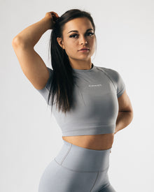 Seamless Crop Top - Shark Grey