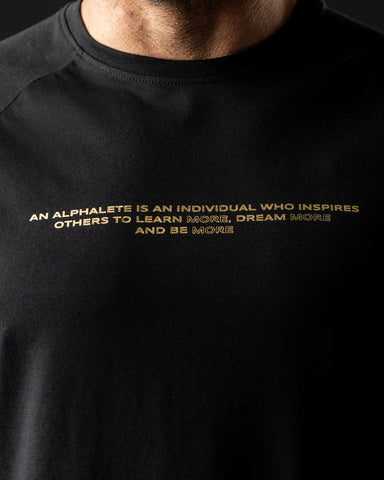 Legacy Performance Tee - Black & Gold