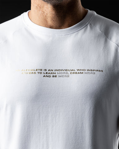 Legacy Performance Tee - White & Gold