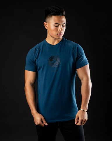 Global Impact Performance Tee - Muted Blue