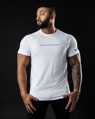 Be More Performance Tee - White