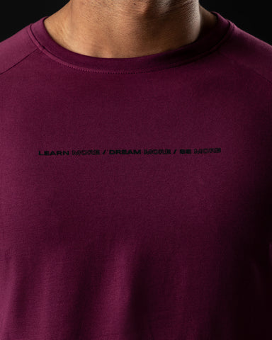 Be More Performance Long Sleeve - Burgundy