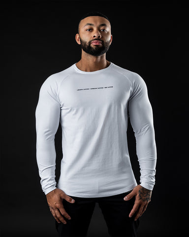Be More Performance Long Sleeve - White