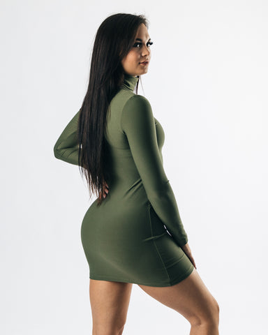 Collective Allure Mini Dress - Olive