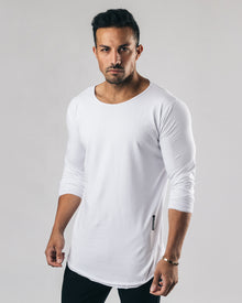 Essential Long Sleeve Scoop - White
