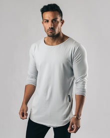 Essential Long Sleeve Scoop - Silver