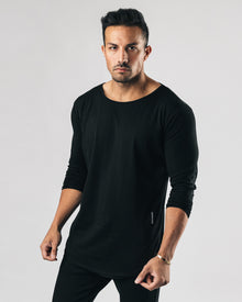Essential Long Sleeve Scoop - Black